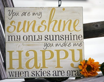 You Are My Sunshine Wall Decor you are my sunshine wall art hand painted wood sign great