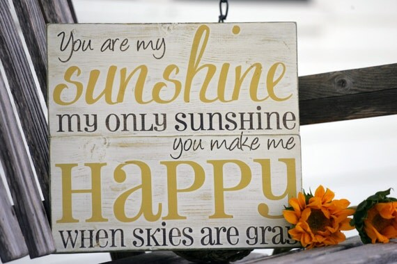 You Are My Sunshine Wall Art Hand Painted Wood Sign Great