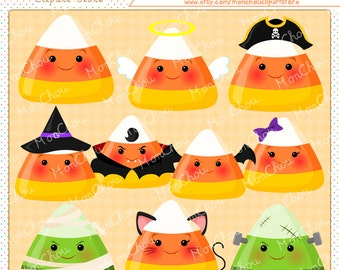 Candy Corn Clipart Set - For Commercial and Personal Use Cliparts