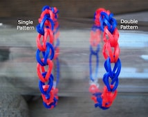 Red and Blue Rubber Band Bracelets Party Favor Pack