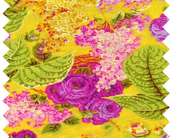 Philip Jacobs Spring 2014 Lilac Cotton Fabric Westminter Rowan PWPJ068-Yellow, By the yard