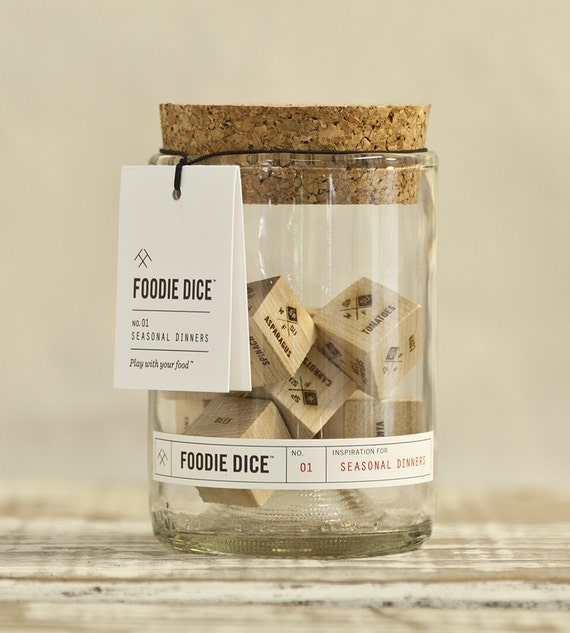 Fun foodie dice - over 186,000 meal combinations to inspire food creativity in the kitchen