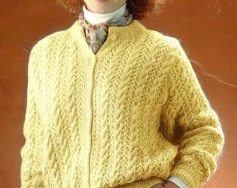 Vintage Knitted Ladies/Women's Cardigan Pattern.