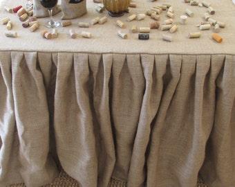 Handmade Burlap Tablecloth Etsy
