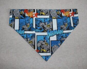 Batman Patterned Dog Bandana in Small, Medium & Large