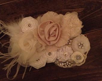 Vintage style bridal sash
