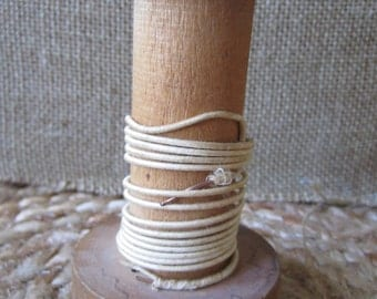 vintage wooden wire spool
