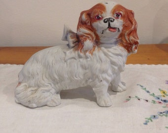 vintage continental spaniel figurine
