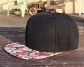 NEW Vintage Floral-Style Print Cap Unisex Personalize Your Text Logo Snapback