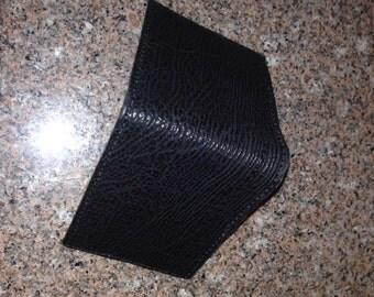Black shark skin wallet