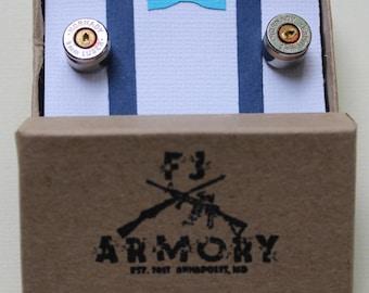 9mm Bullet Cufflinks (Nickel Plated)