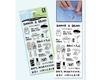 Inkadinkado GIRLFRIENDS Clear Stamps
