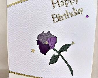 handmade iris fold   card – happy birthday