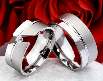 Alliances - weddings-marriages-steel-engagement