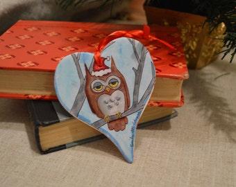 Sleepy Owl Ornament