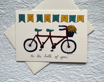 Bicycle for Two Wedding Card