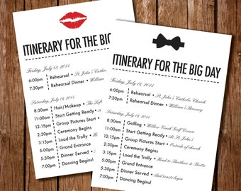 Wedding Day Schedule - Day of wedding timeline template free