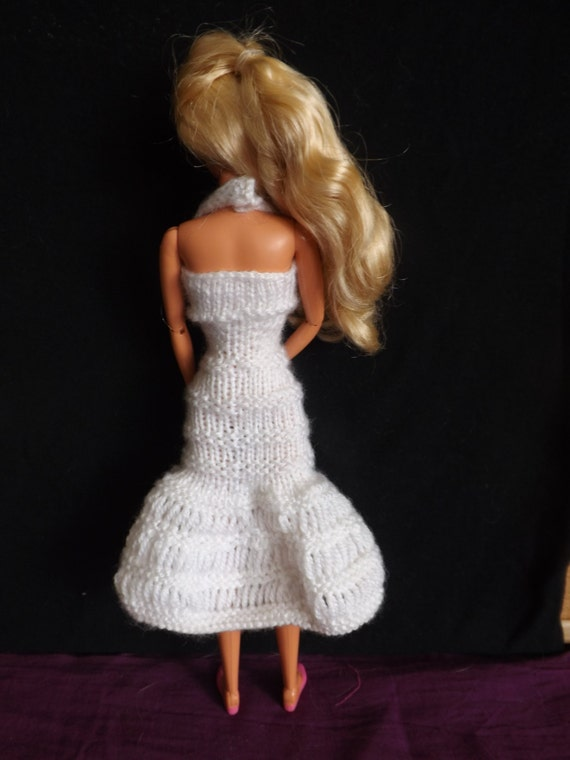 PATTERN - Knitted Barbie Clothes - Barbie Knitting Patterns - Pattern for Dro...
