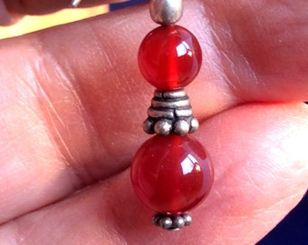 Carnelian Earrings. Red or Pale Yellow,Sterling Silver, free US ship 24.00 ea