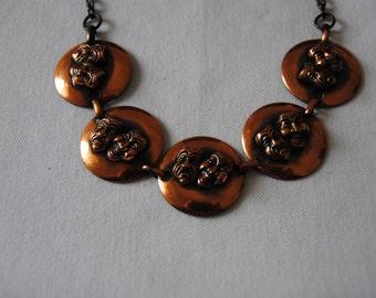 Comedy Tragedy Bronze Necklace