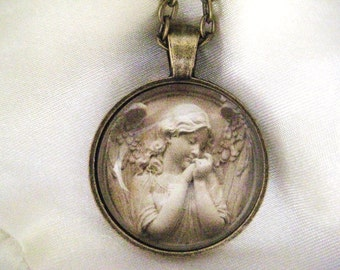 Heavenly Angel Necklace, infant loss, child loss, baby loss keepsakes, miscarriage, stillborn, angel, child loss jewelry, handmade