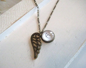 Angel Wing Necklace, miscarriage, miscarriage necklace, stillborn, memorial jewelry, infant loss, miscarriage gift, baby loss, child loss