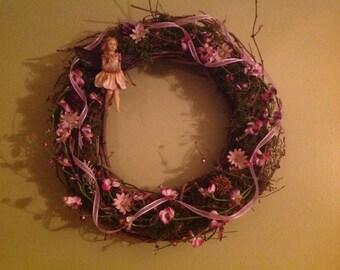 Woodland fairy wreath