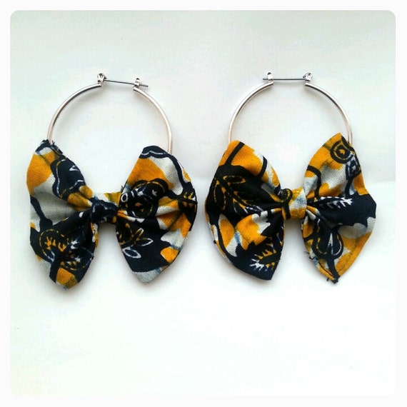 African hoop bow Earrings