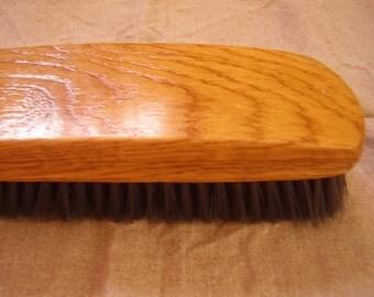Vintage wooden brush shoe shine brush black bristles brush clothes cleaning brush or shoes polish brush soviet era 1970s USSR unused