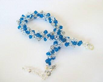Swarovski Crystal Helix Bracelet in Capri Blue