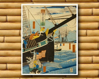 Japanese Travel Art Poster Asian Decor Japan Art Print (J19)