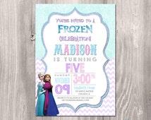 Frozen Invitation, Frozen Birthday Invitation, Frozen printable Invitation, Frozen Birthday Theme, Disney Frozen Printable Invitation