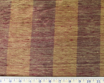 Gold and Burgundy Stripe - Fabric by the Yard 009