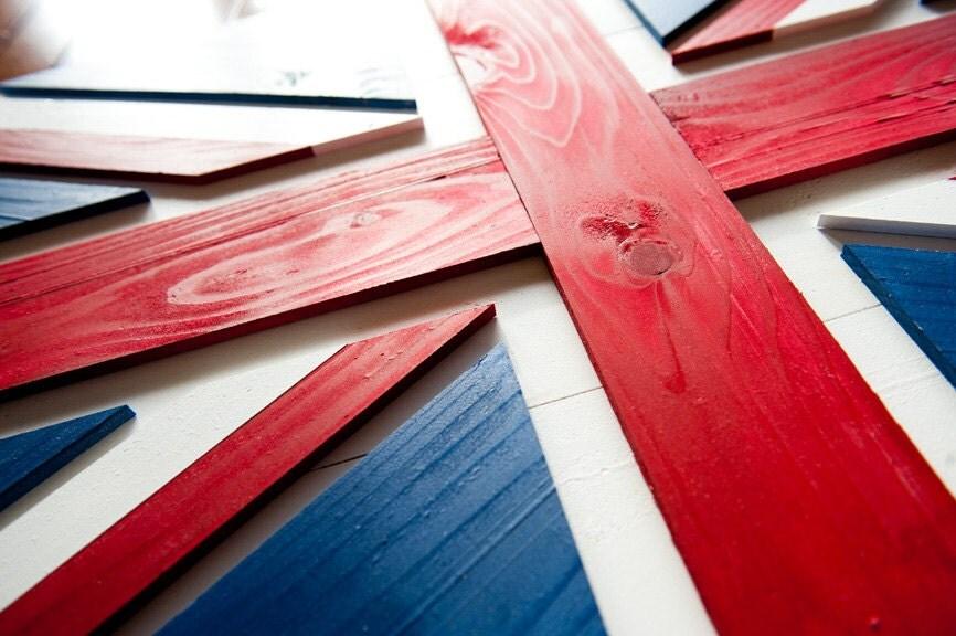 Union Jack Wood Flag Uk Wooden Flag Uk Flag Union Jack Flag