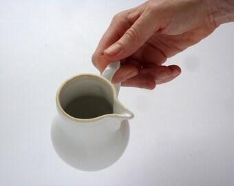 french vintage milk jug, verseuse egoïste, cream jug