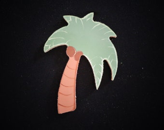 "Beautiful 6"" Palm Tree Handpainted MDF Cutout"