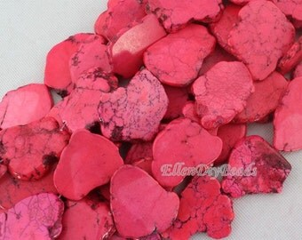 Slab Turquoise Beads,Pink Turquoise Beads,Turquoise Stone,Gemstone Beads---30*40mm--8 Pieces--BT045