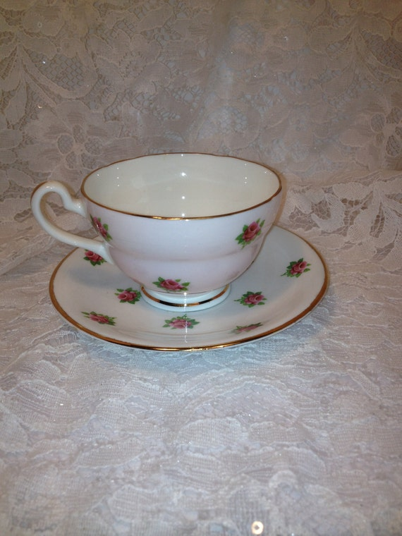 Crownford Fine Bone China Tea Cup And Saucer Made In England