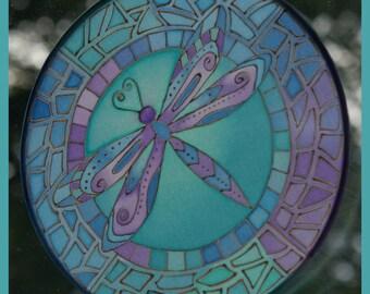 Dragonfly Silk Sun Catcher