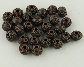 Copper Colored Rondelle Beads -25- Beads