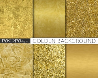 Gold textures digital paper gold foil background golden printable scrapbook shine glitter grunge instant download supplies decoration
