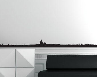 Rome Skyline Black Wall Decal
