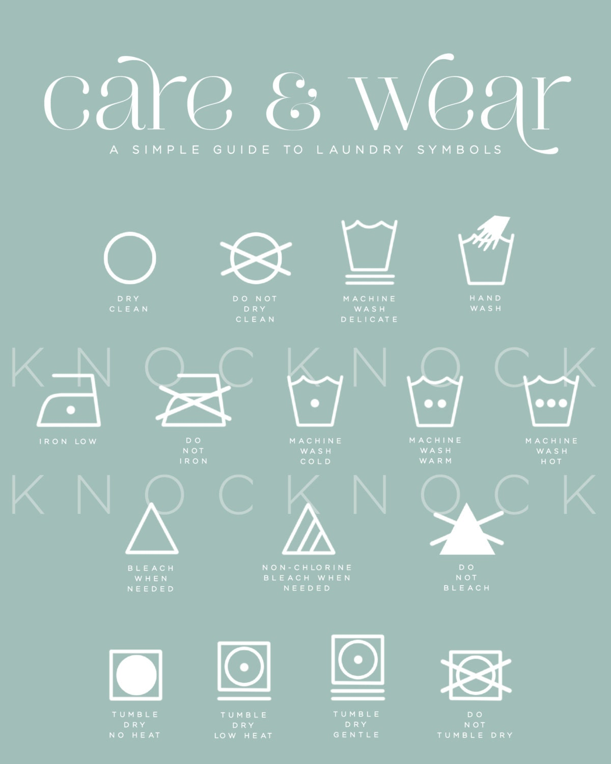 This is a photo of Invaluable Laundry Symbols Printable