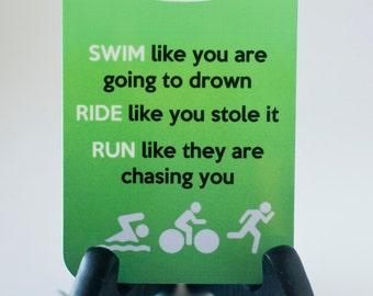 Triathlon Bag Tag Swim Bike Run luggage  gear bag sport tag triathlon gift
