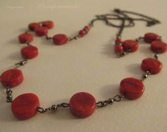 2629-  Necklace, Coral