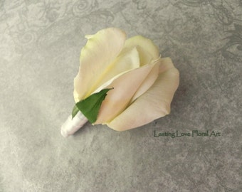 Real Touch Boutonniere, Rose boutonniere, Wedding boutonniere, Prom boutonniere, Groom Boutonniere, Boutonniere