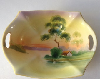 Hand-painted bowl made in Japan