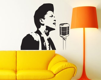 bruno mars music wall decal poster decor sticker vinyl. Black Bedroom Furniture Sets. Home Design Ideas