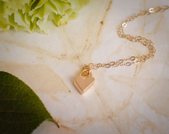 Tiny Gold Heart Layering Necklace ~ Dainty Gold Heart Necklace ~ Gold Necklace for Layering