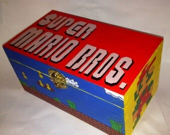 Handpainted Super Mario Box
